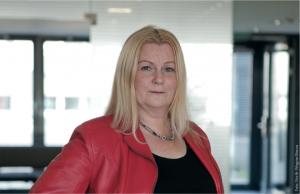 Christine Farkas - Vorsitzende des Alpine-Angestelltenbetriebsrats