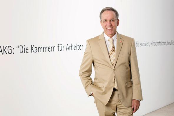 Rudi Kaske, seit Frühjahr 2013 Präsident der AK (Copyright: Lisi Specht)
