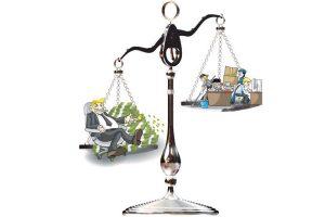 Durch die Inflation bleibt den ArbeitnehmerInnen von Gehaltserhöhungen netto nichts übrig. (Bild: Collage Knüpfer, gow27, markus dehlzeit /Fotoliacom)