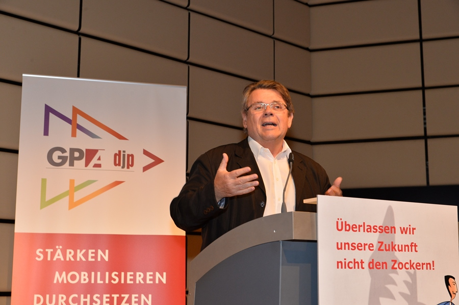GPA-djp-Vorsitzender Wolfgang Katzian. Foto: Willi Denk