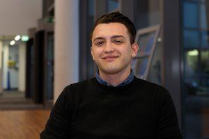 Sebastian Idinger, 18, absolviert eine Lehre