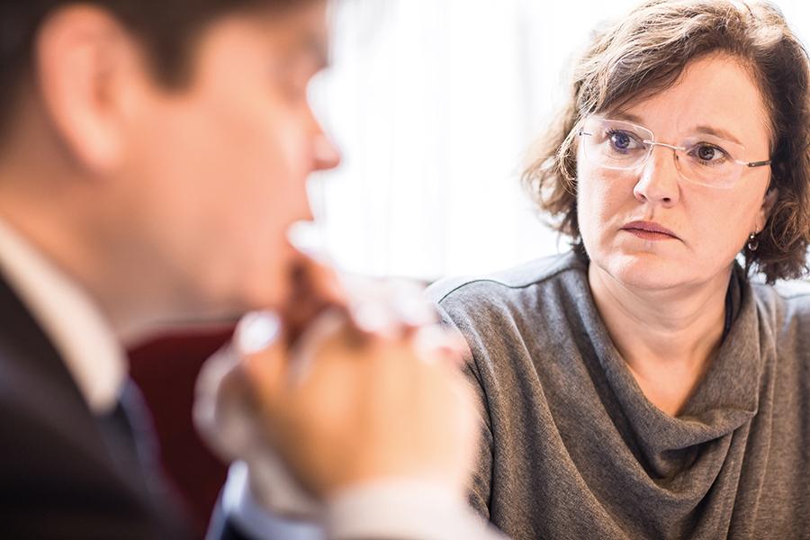 """Agnes Streissler-Führer; Mitglied der GPA-djp Bundesgeschäftsführung: """"Technik und Technologie müssen den Menschen dienen und nicht umgekehrt."""" Foto: Michael Mazohl"""