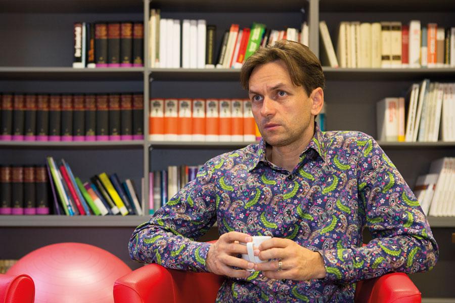 Nerijus Soukup ist Betriebsratsvorsitzender der Firma Mentor Management Entwicklung. Foto: Nurith Wagner-Strauss