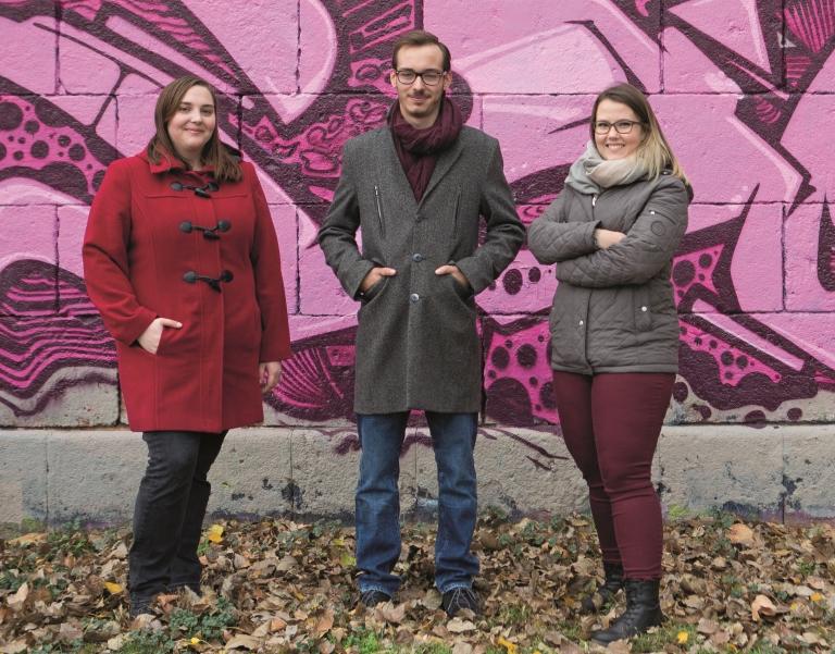 V. l. n. r.: Sophie Doppler, Martin Geischläger, Lisa Höferl. Foto: Nurith Wagner Strauss