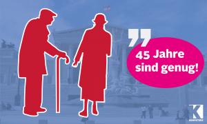 Faktencheck: Wer nach 45 Jahren abschlagsfrei in Pension geht