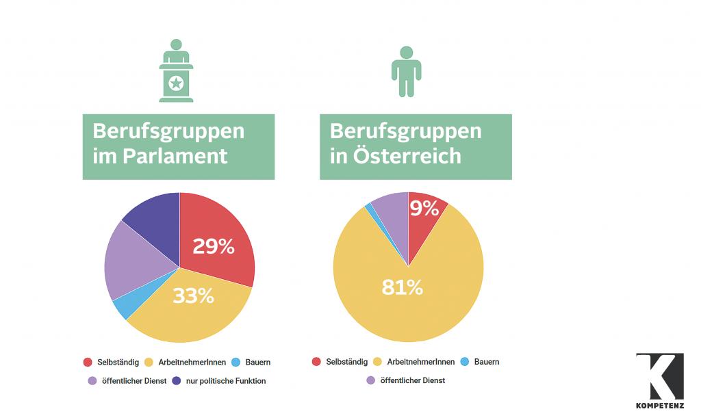 Grafik: Berufsgruppen im Parlament