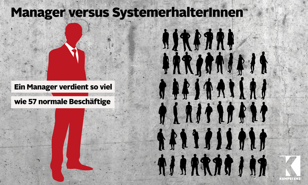 Grafik: Manager versus SystemerhalterInnen